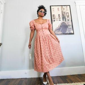 Embroidery Cotton Midi Dress, 12